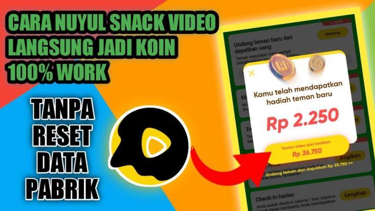 Bagaimana Nuyul Snack Video Agar Memperoleh Keuntungan Banyak