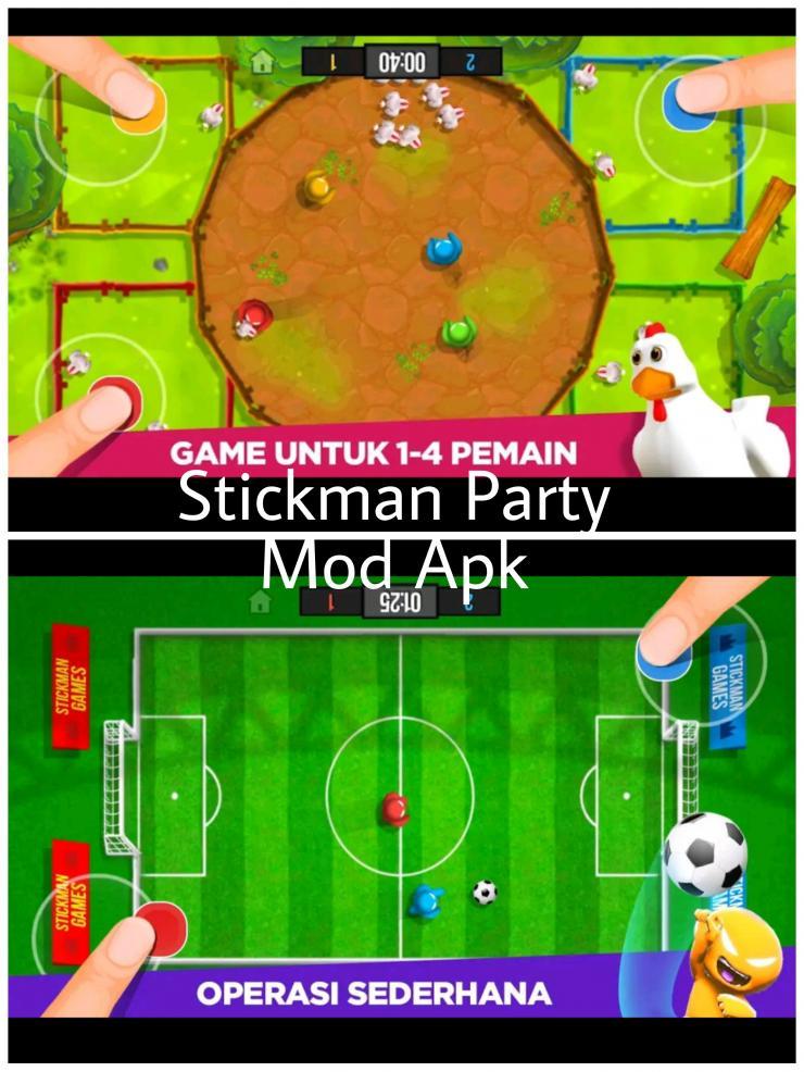 Serunya Stickman Party Mod Apk Dengan Fitur Unlimited Money